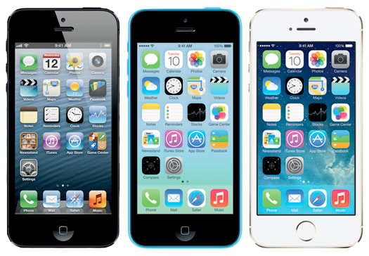 iPhone 5, 5C og 5S top