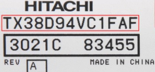 Hitachi display type model bærbar panel til computer