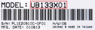 Unipac display type model bærbar panel til computer