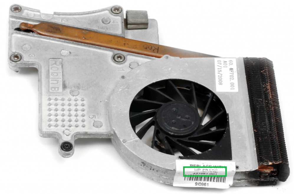 Reservedels nummer på CPU køler til bærbar afmonteret