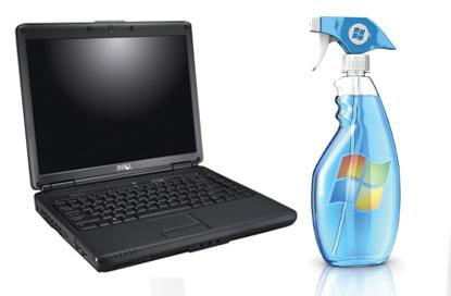 Rensning af bærbar computer - Windows rens