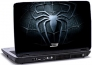Laptop skin med sort spiderman logo