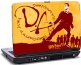 Laptop skin med Harry Potter og orange baggrund