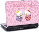 Laptop skin med 2 katte og teksten - Hello Kitty
