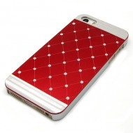 KAMPAGNE VARE, iPhone 5G/5s/SE Diamond Bling Case - rød