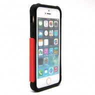 KAMPAGNE VARE, iPhone 5G/5s/SE Football Lines Cover Case - rød