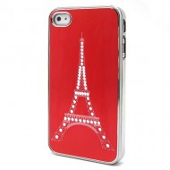 KAMPAGNE VARE, iPhone 4/4s The Steel Tower Tube Drawing Cover Case - rød