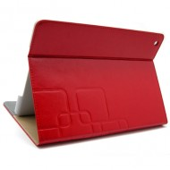 KAMPAGNE VARE, iPad air  Smart Flip Smart Cover Case med card holder - rød
